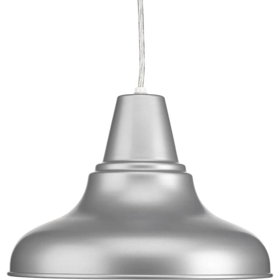 Progress Lighting District 8.25-in Metallic Gray Outdoor Pendant Light