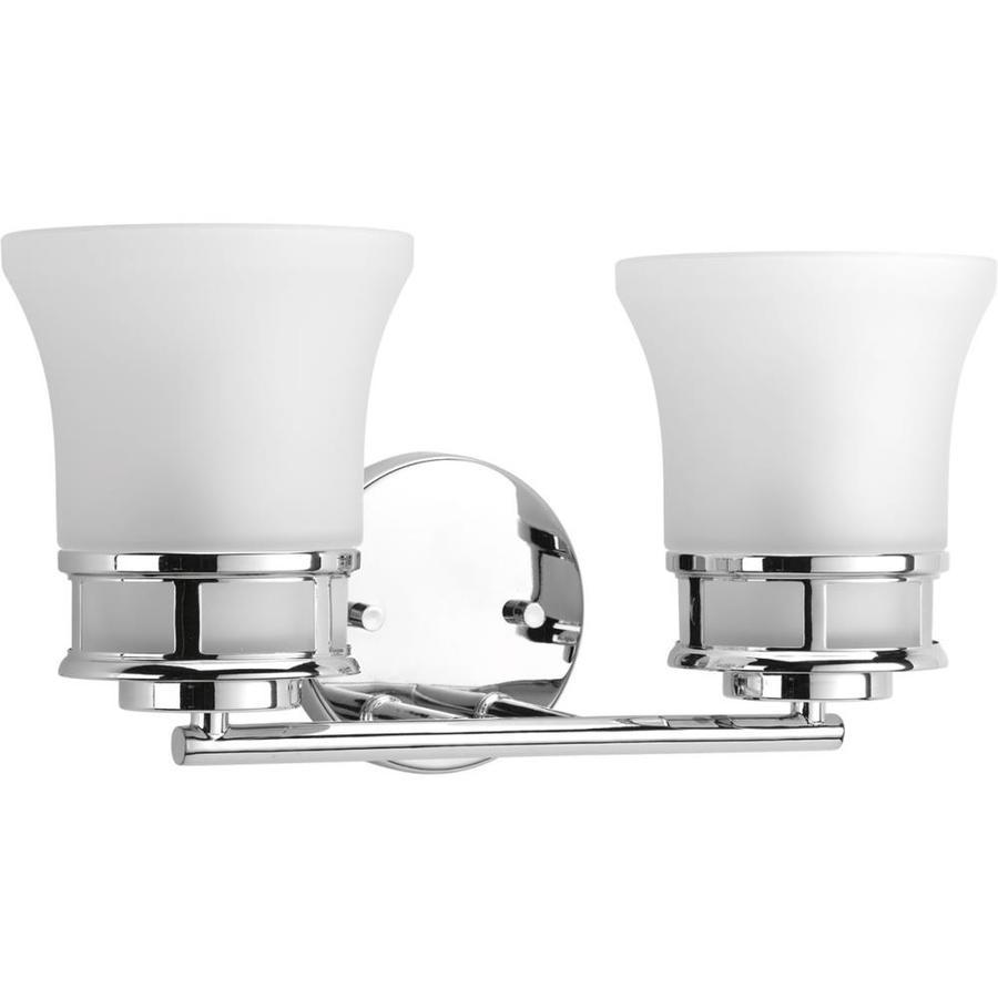 Progress Lighting Cascadia 2-Light 8-in Polished Chrome Bell Vanity Light
