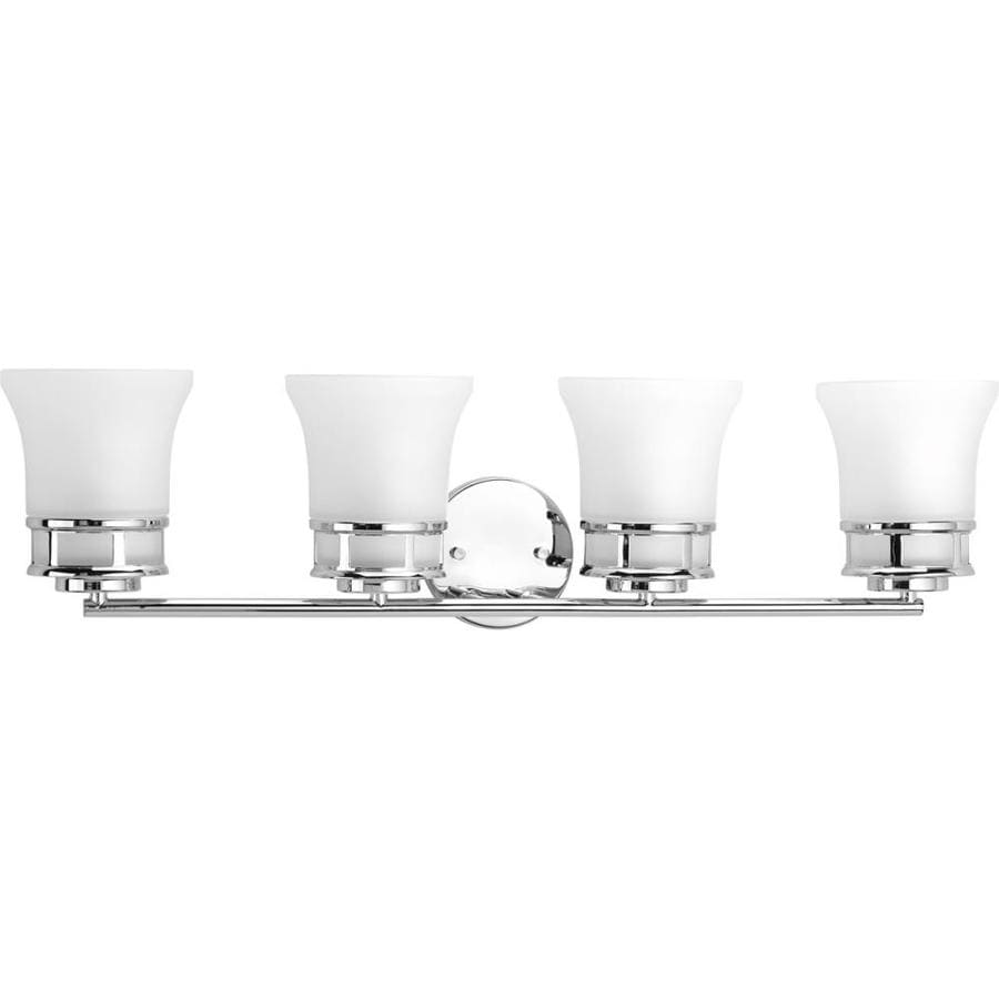 Progress Lighting Cascadia 4-Light 8-in Polished chrome Bell Vanity Light