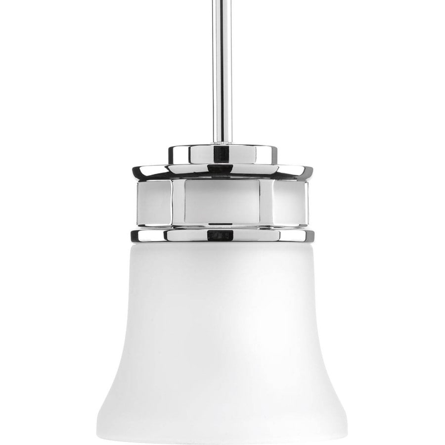 Progress Lighting Cascadia 5.875-in Polished Chrome Mini Etched Glass Bell Pendant