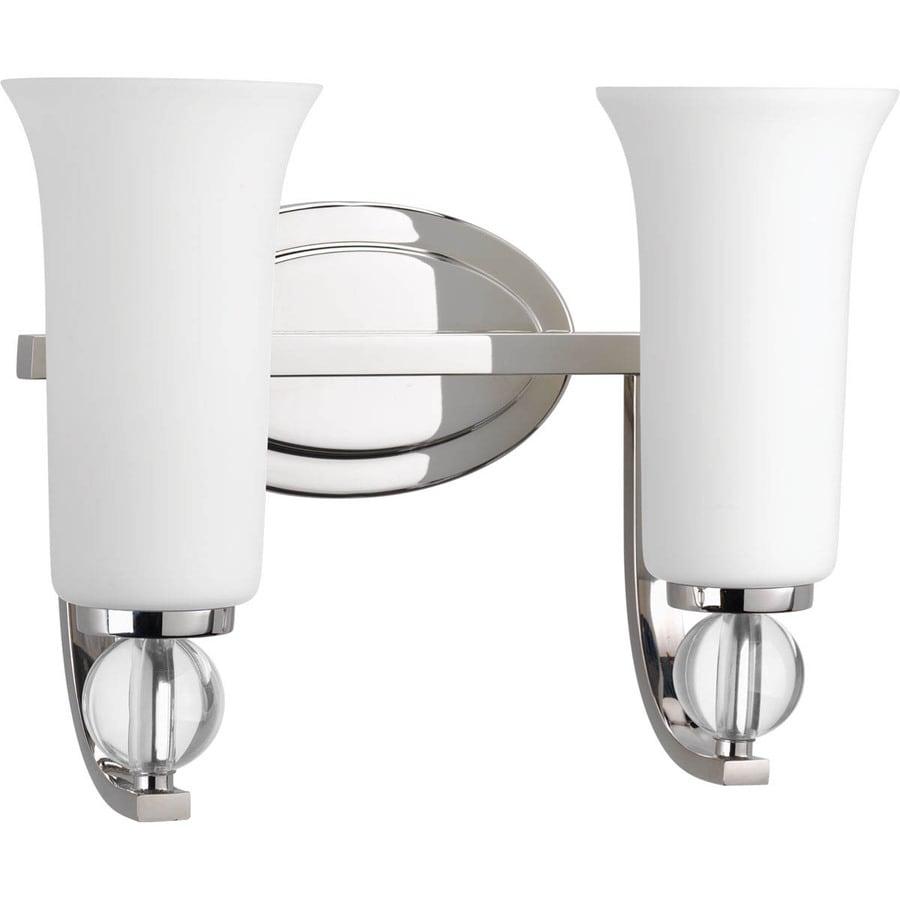 Progress Lighting Elina 2-Light Polished Nickel Bell Vanity Light