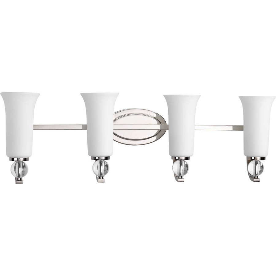 Progress Lighting Elina 4-Light 10.25-in Polished nickel Bell Vanity Light