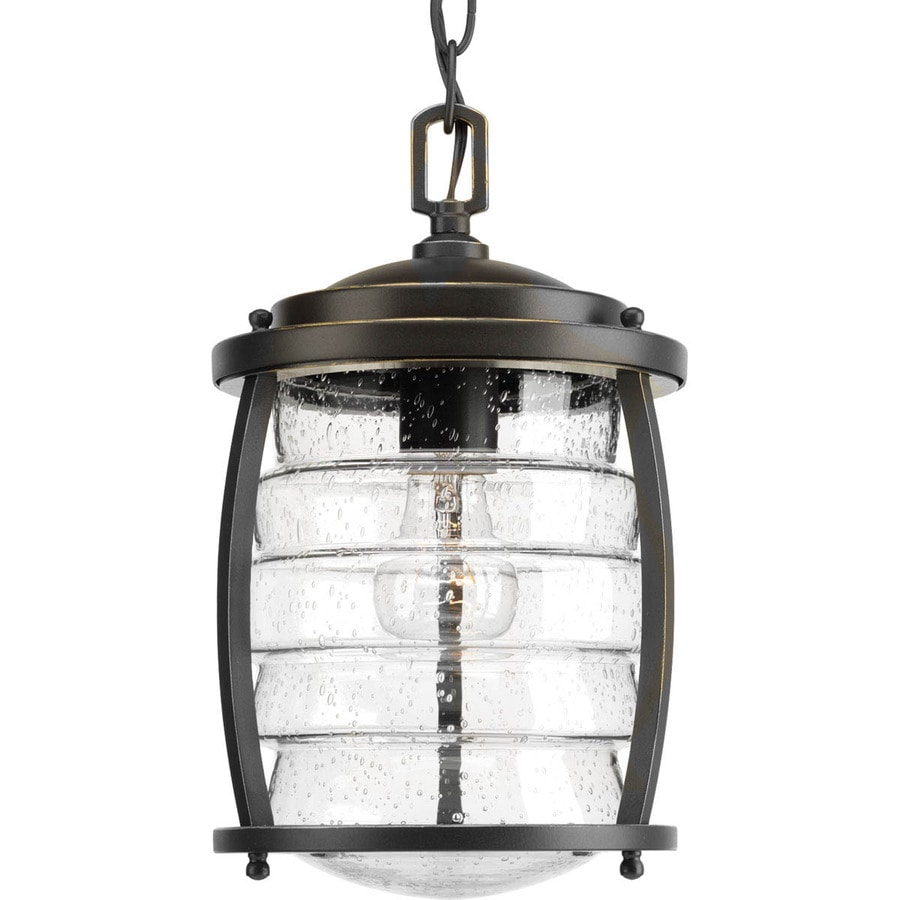Progress Lighting Signal Bay 12.75-in Oil-Rubbed Bronze Outdoor Pendant Light