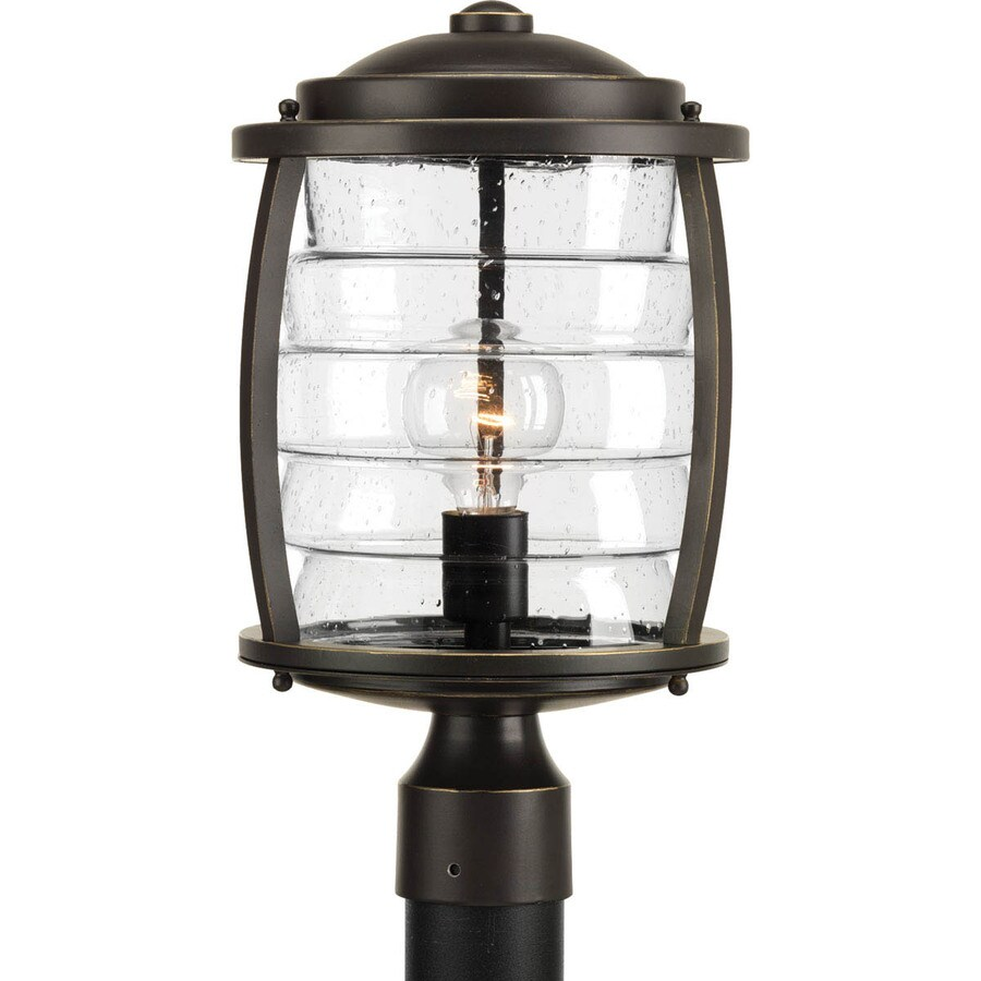 Progress Lighting Signal Bay 16.375-in H Oil Rubbed Bronze Post Light