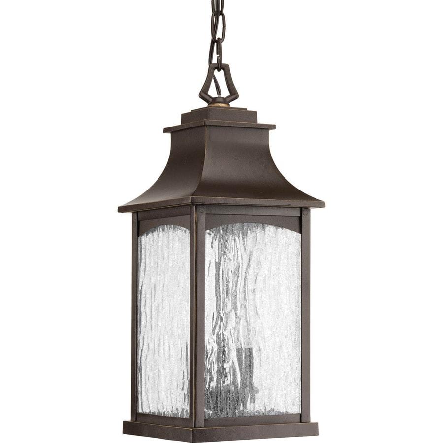 Progress Lighting Maison 17.875-in Oil-Rubbed Bronze Outdoor Pendant Light