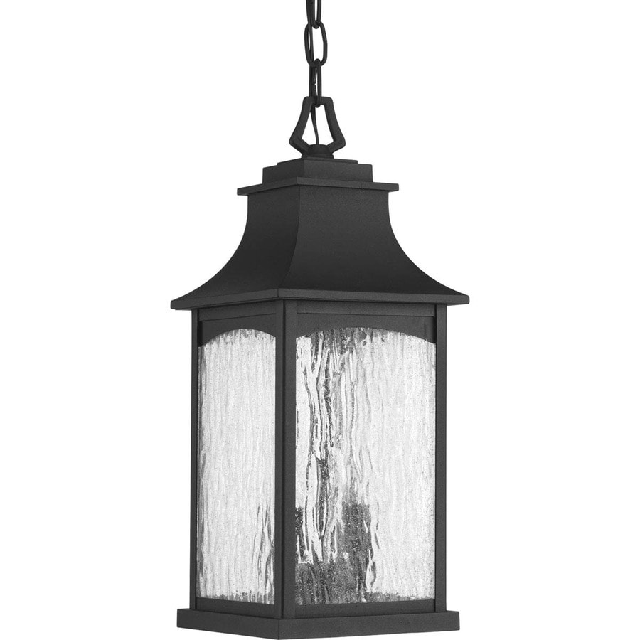 Progress Lighting Maison 17.875-in Black Outdoor Pendant Light