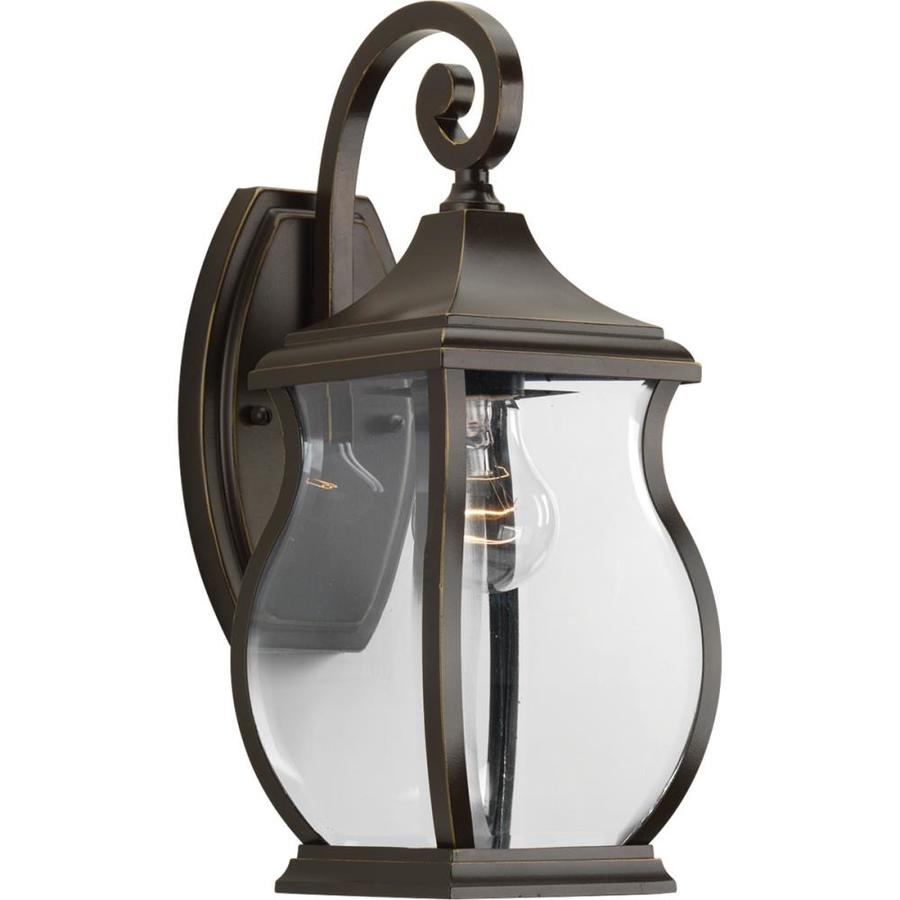 Progress Lighting Township 14.75-in H Oil Rubbed Bronze Outdoor Wall Light