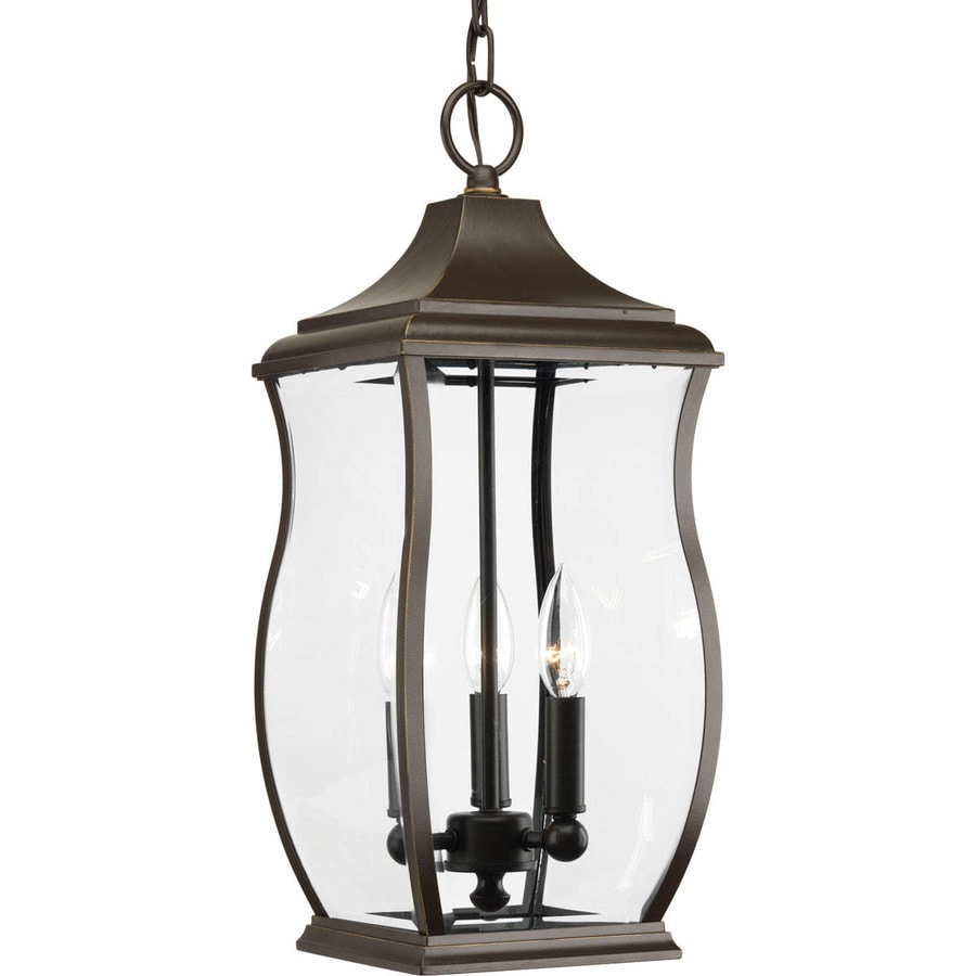 Progress Lighting Township 19.75-in Oil-Rubbed Bronze Outdoor Pendant Light