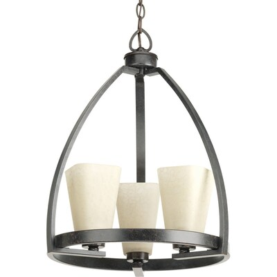 Ridge 3 Light Espresso Farmhouse Tinted Gl Shaded Chandelier