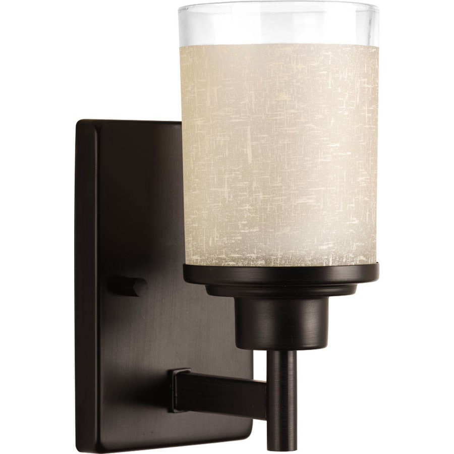 Progress Lighting Alexa 1-Light 9.375-in Antique Bronze Cylinder Vanity Light