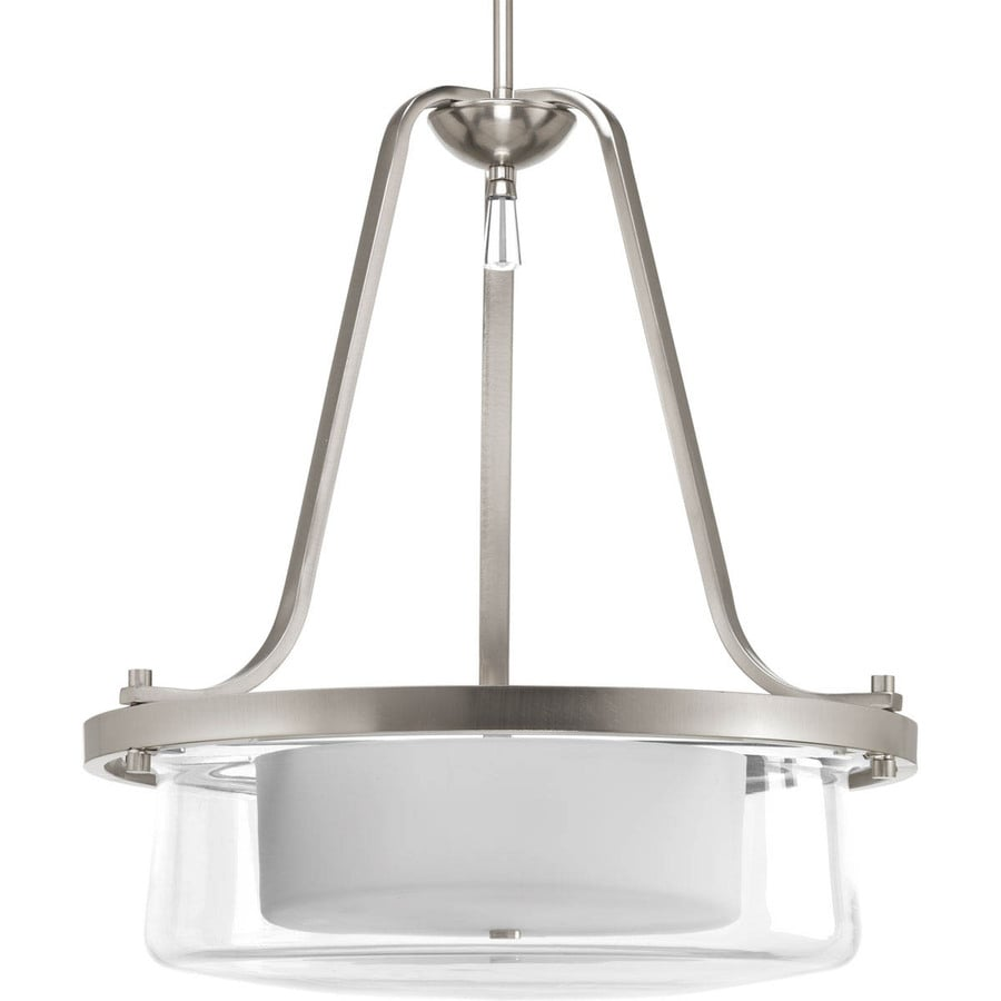 Progress Lighting Indulge 20-in Brushed Nickel Single Cylinder Pendant