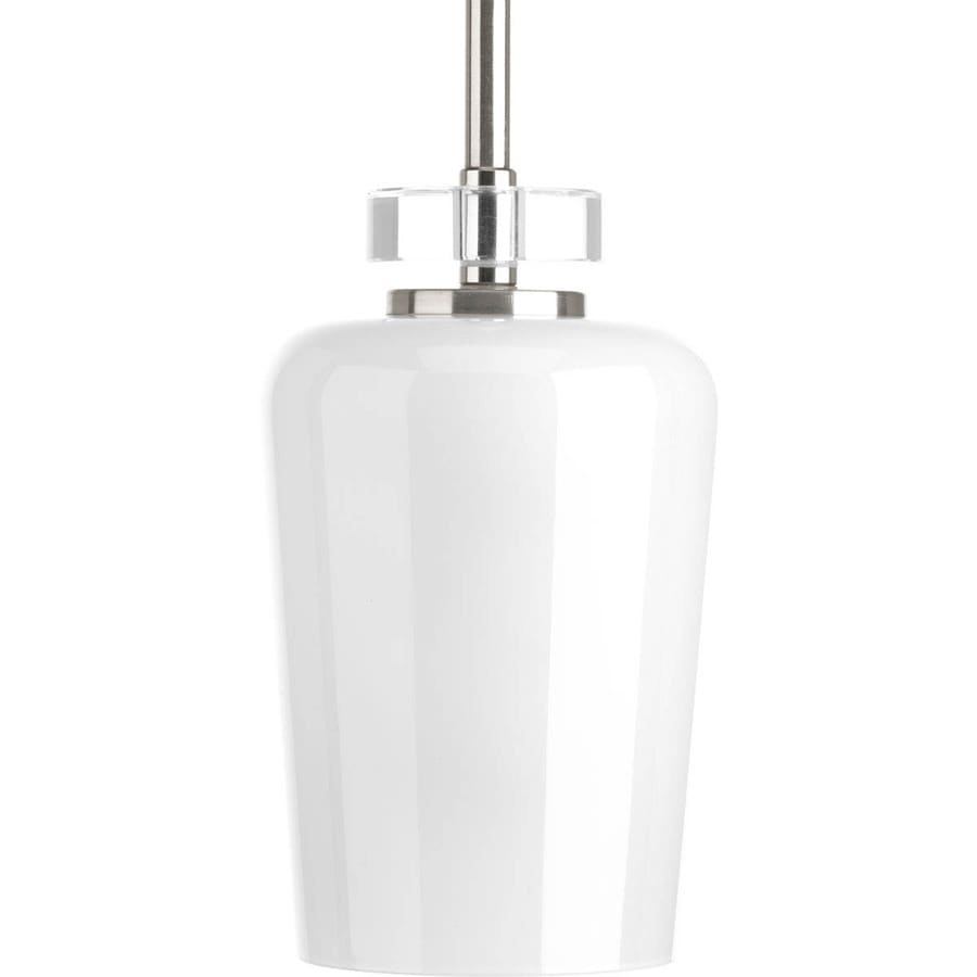 Progress Lighting Indulge 5-in Brushed Nickel Mini Cylinder Pendant