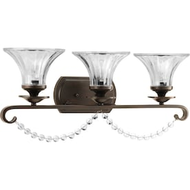 Progress Lighting Bliss 3-Light Bronze Transitional Vanity Light