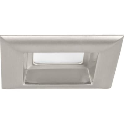 Progress Lighting Led Retrofit Square Brushed Nickel Open