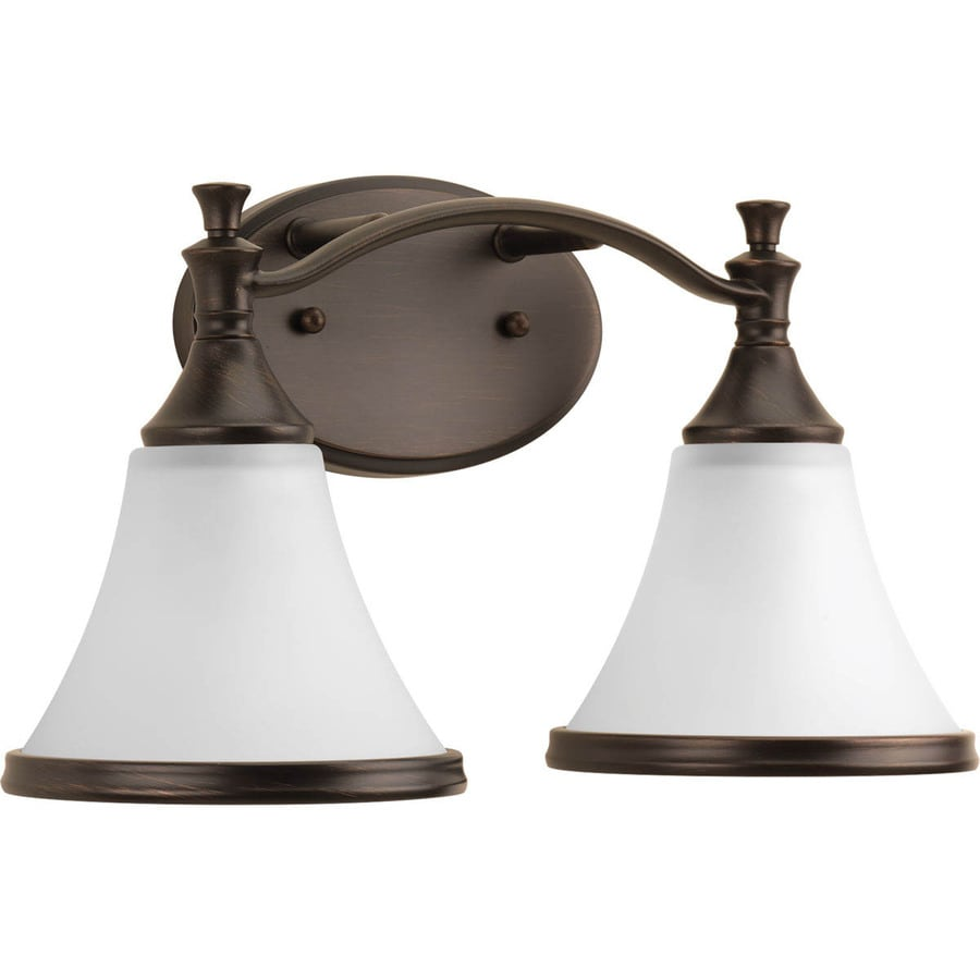 Shop DELTA Valdosta 2-Light 8.8125-in Venetian Bronze Bell Vanity Light at Lowes.com