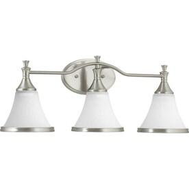 Progress Lighting Valdosta 3-Light Nickel Transitional Vanity Light