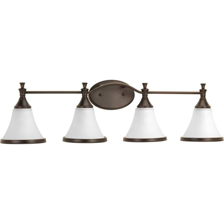 Delta Bathroom Vanity Lights : Shop DELTA Valdosta 4-Light 8.8125-in Venetian bronze Bell Vanity Light at Lowes.com
