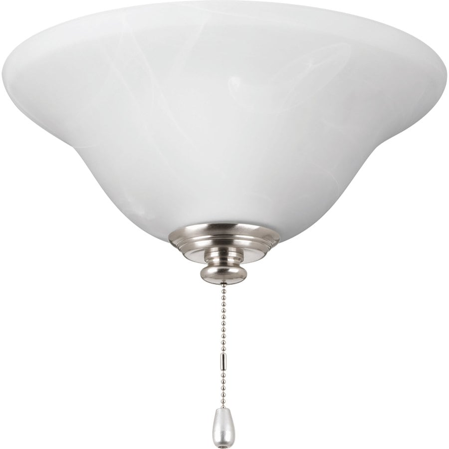 Progress Lighting AirPro 1-Light Brushed Nickel LED Ceiling Fan Light Kit with Etched Glass ENERGY STAR