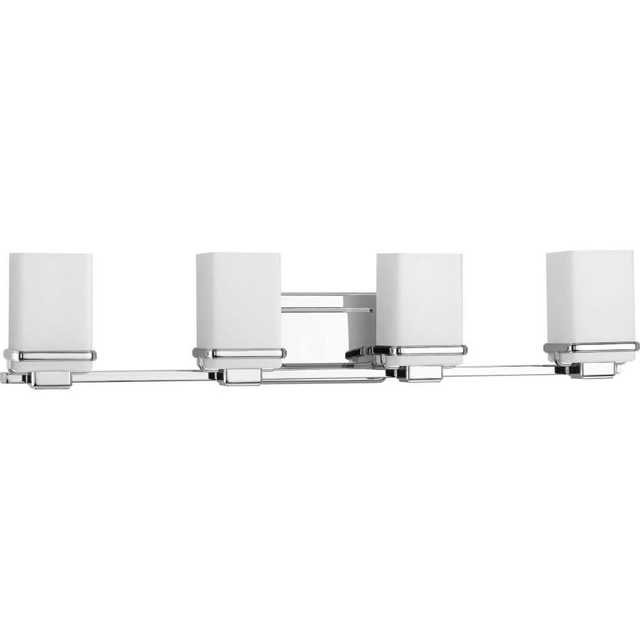 Progress Lighting Metric 4-Light 6.5-in Polished Chrome Square Vanity Light