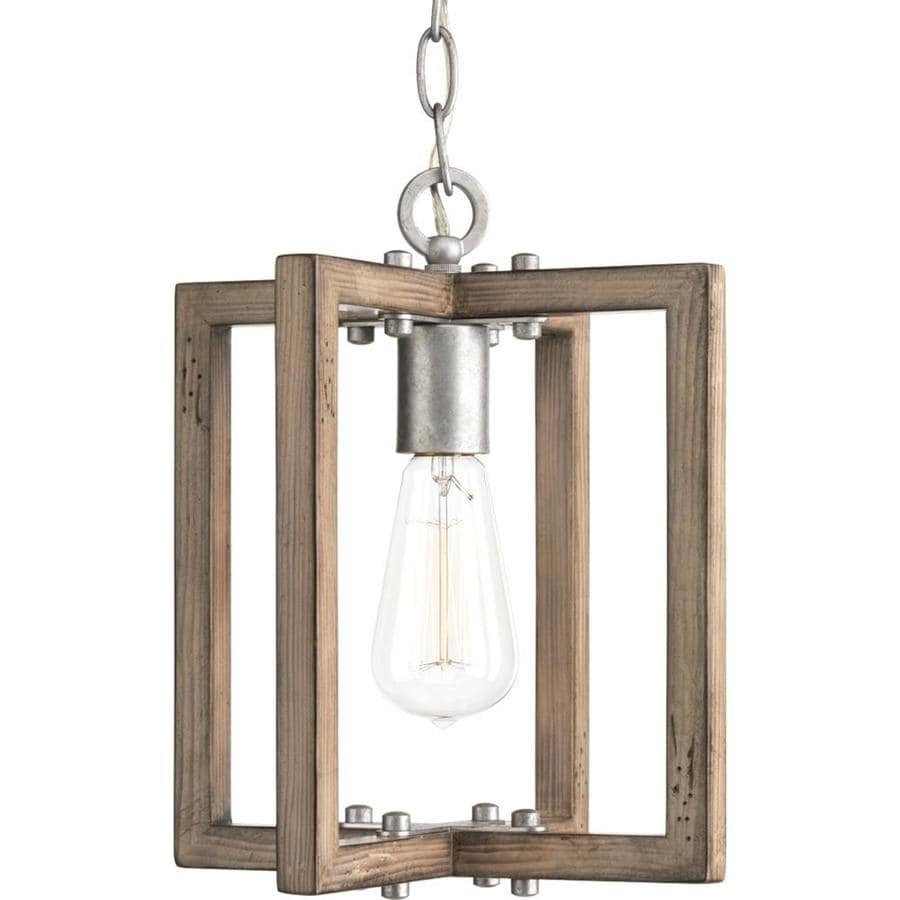 Progress Lighting Turnbury 10-in Galvanized Single Square Pendant