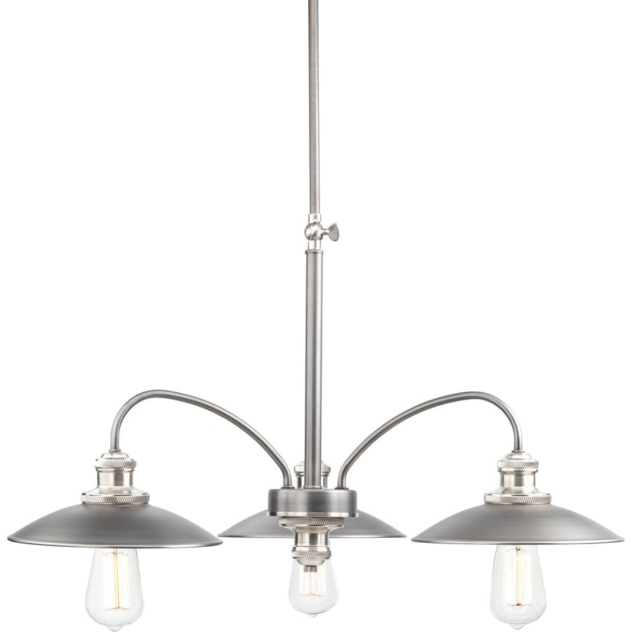 Progress Lighting Archives 28-in 3-Light Antique Nickel Linear Chandelier