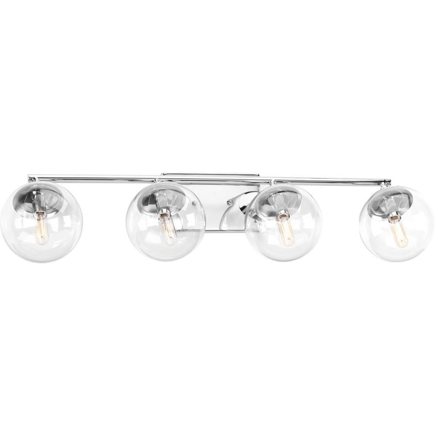 Progress Lighting Mod 4-Light Polished Chrome Globe Vanity Light