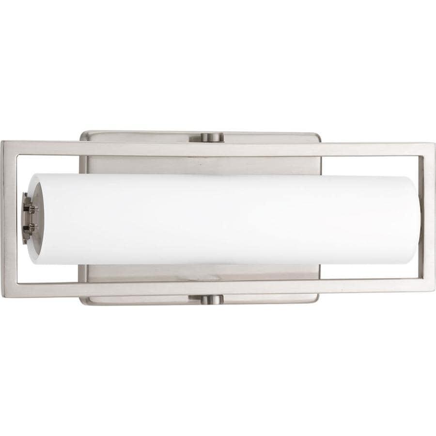 Vanity Bar Lights Brushed Nickel : Shop Progress Lighting Frame 1-Light 4.75-in Brushed Nickel Rectangle LED Vanity Light Bar at ...