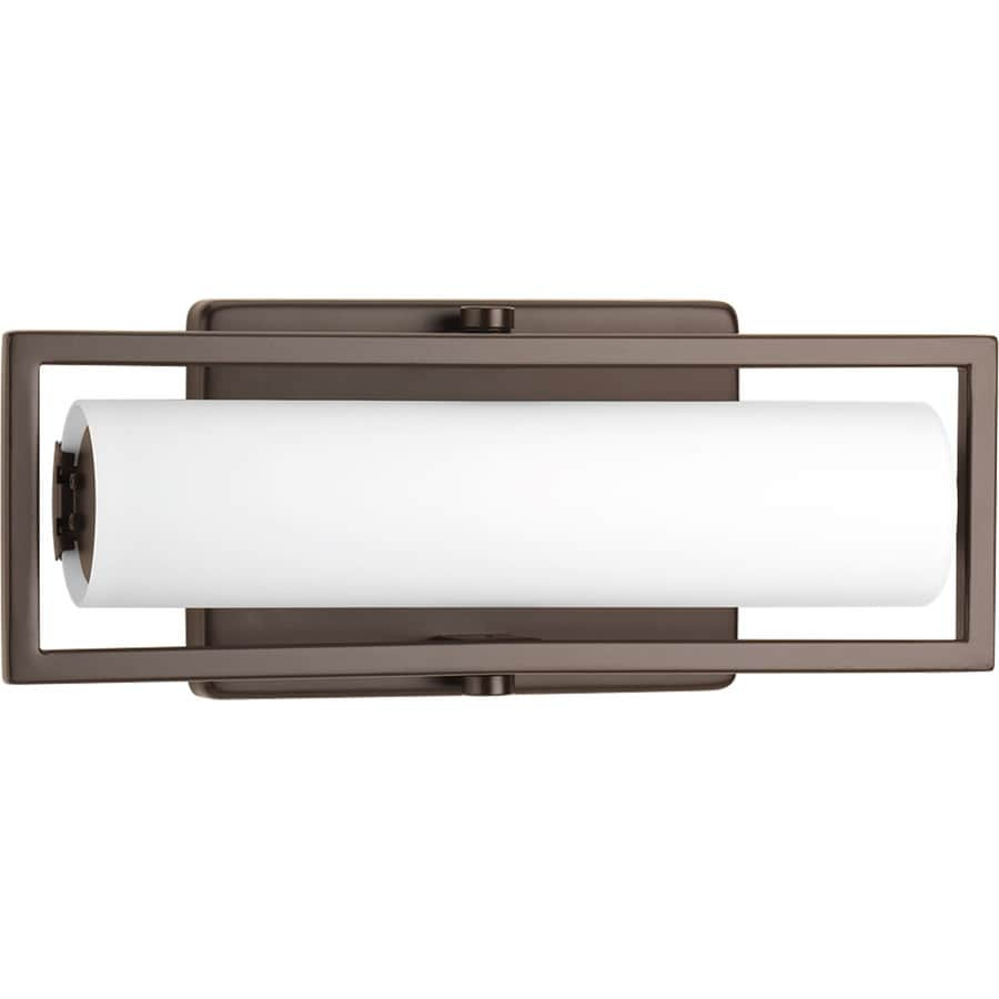 Shop Progress Lighting Frame 1-Light 4.75-in Architectural Bronze Rectangle LED Vanity Light Bar ...