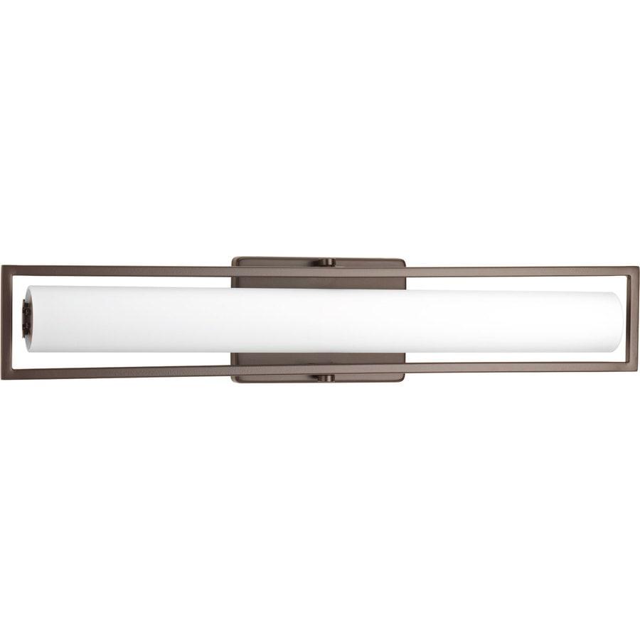 Progress Lighting Frame 1-Light 3.38-in Architectural Bronze Square LED Vanity Light Bar