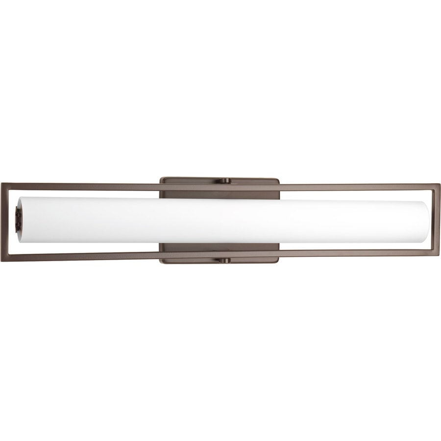 Shop Progress Lighting Frame 1-Light 3.38-in Architectural Bronze Square LED Vanity Light Bar at ...