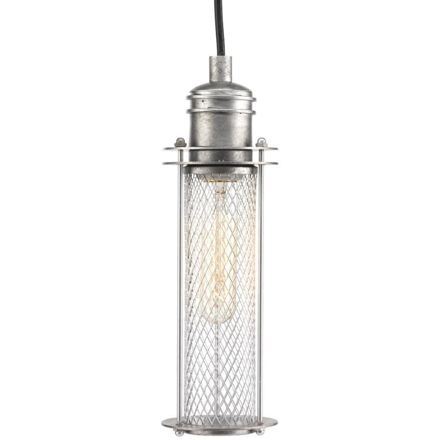 Progress Lighting Industrial 5-in Galvanized Industrial Single Cage Pendant