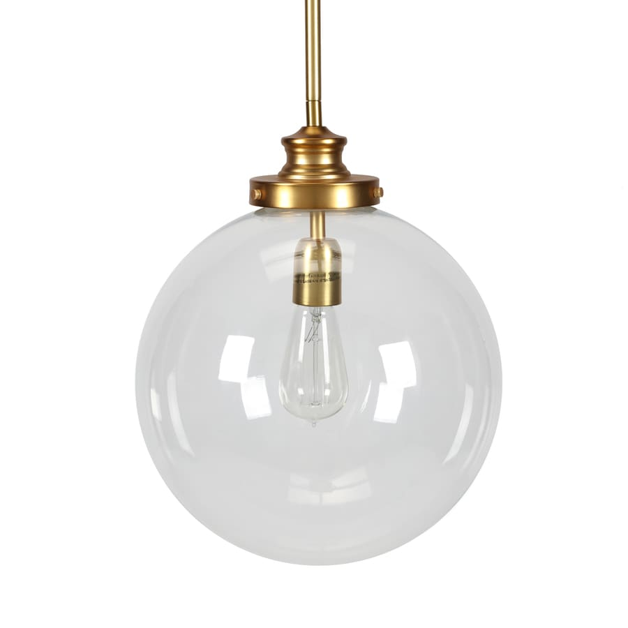 brass globe pendant light. Progress Lighting Penn 12-in Natural Brass Single Clear Glass Globe Pendant Light L