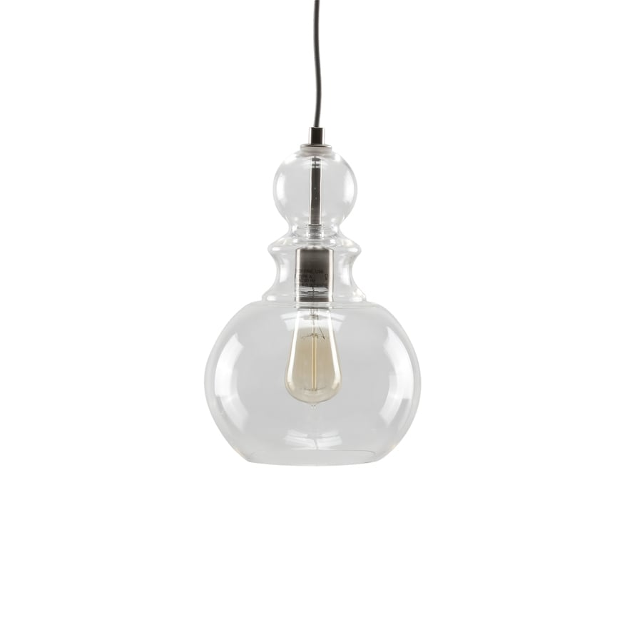 Progress Lighting Staunton 8.5-in Brushed Nickel Single Clear Glass Globe Pendant
