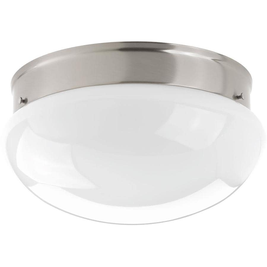 Progress Lighting Fitter 11.5-in W Brushed Nickel LED Flush Mount Light ENERGY STAR