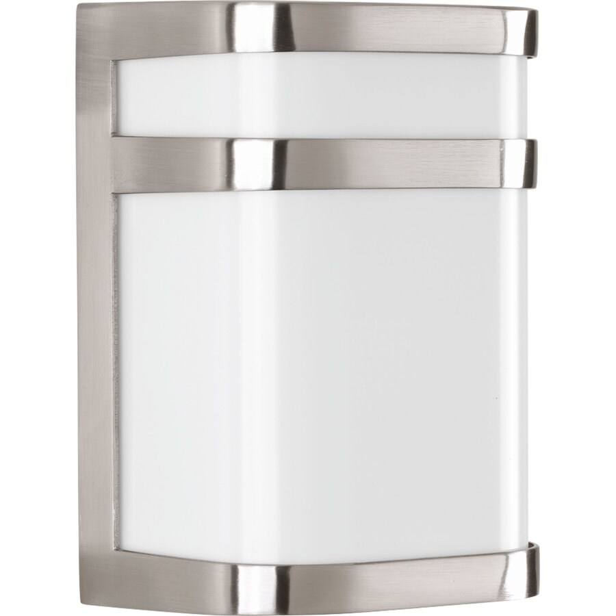Progress Lighting Valera LED 8-in H LED Brushed Nickel Outdoor Wall Light ENERGY STAR