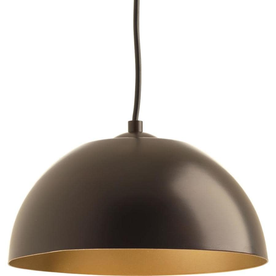 Progress Lighting Dome 10-in Antique Bronze Dome LED Pendant