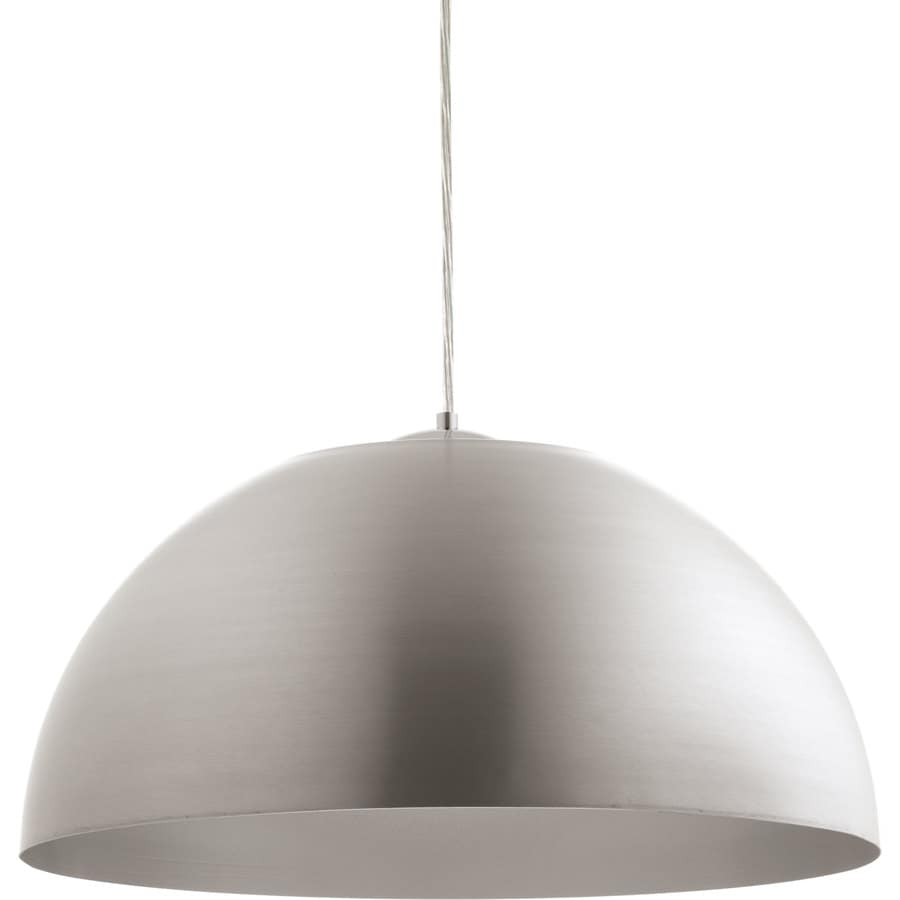 Progress Lighting Dome 22-in Satin Aluminum Single Dome Pendant
