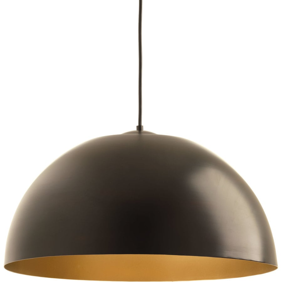 Progress Lighting Dome 22-in Antique Bronze Dome LED Pendant