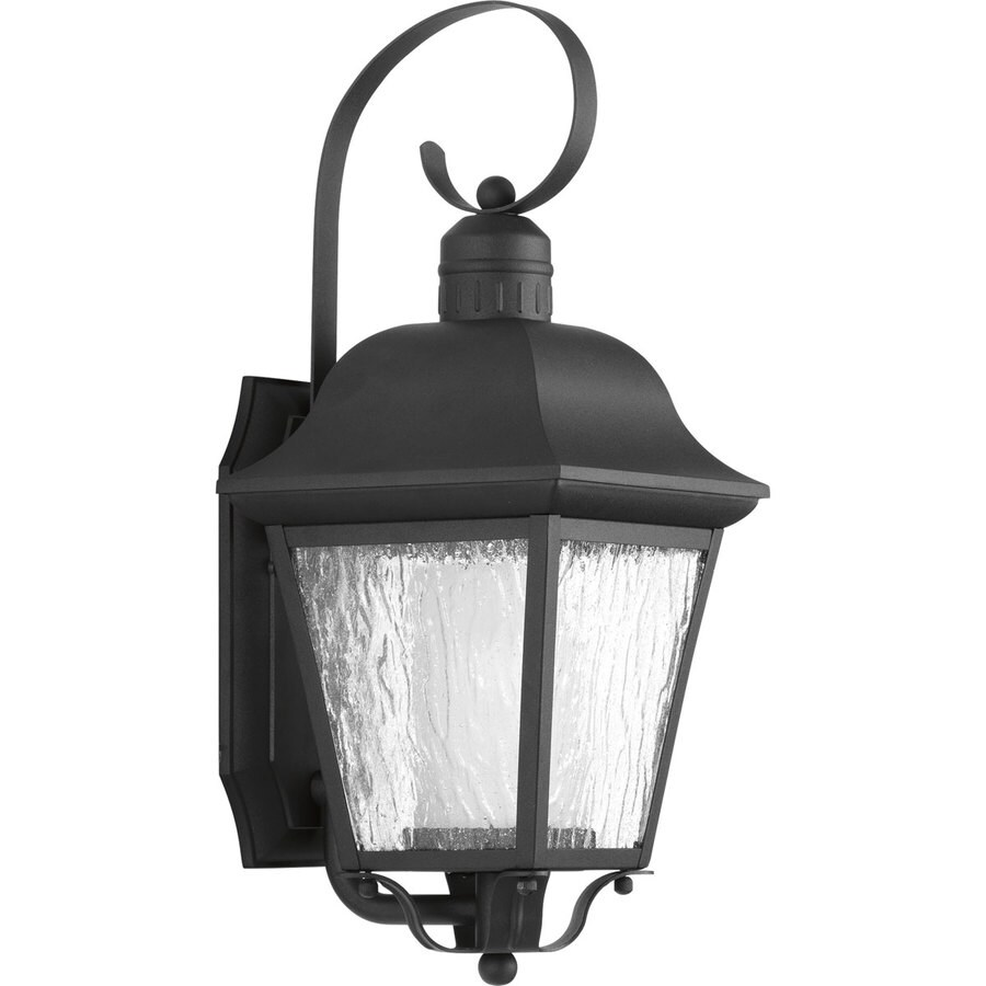 Progress Lighting Andover CFL 18.375-in H Black Outdoor Wall Light