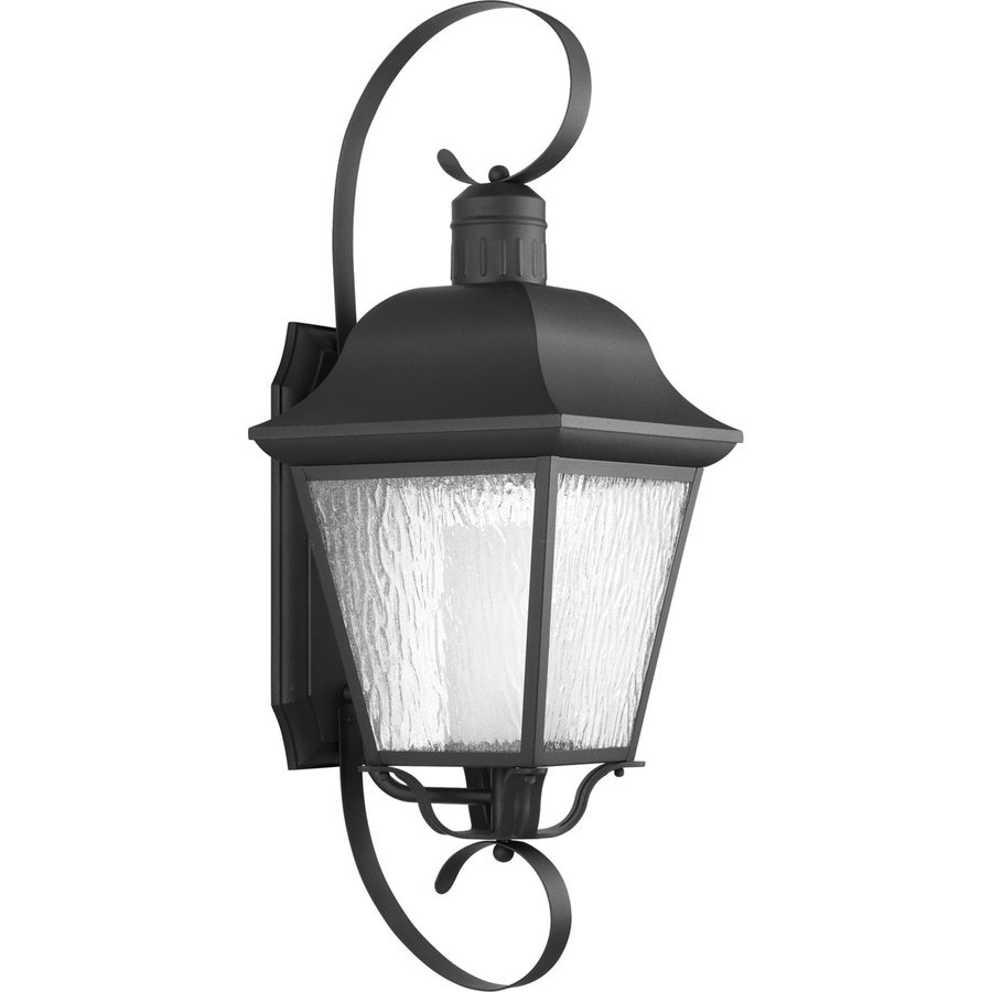 Progress Lighting Andover CFL 34.375-in H Black Outdoor Wall Light