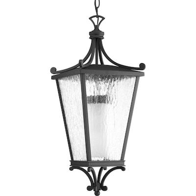 Progress Lighting Cadence Cfl Black Seeded Gl Lantern