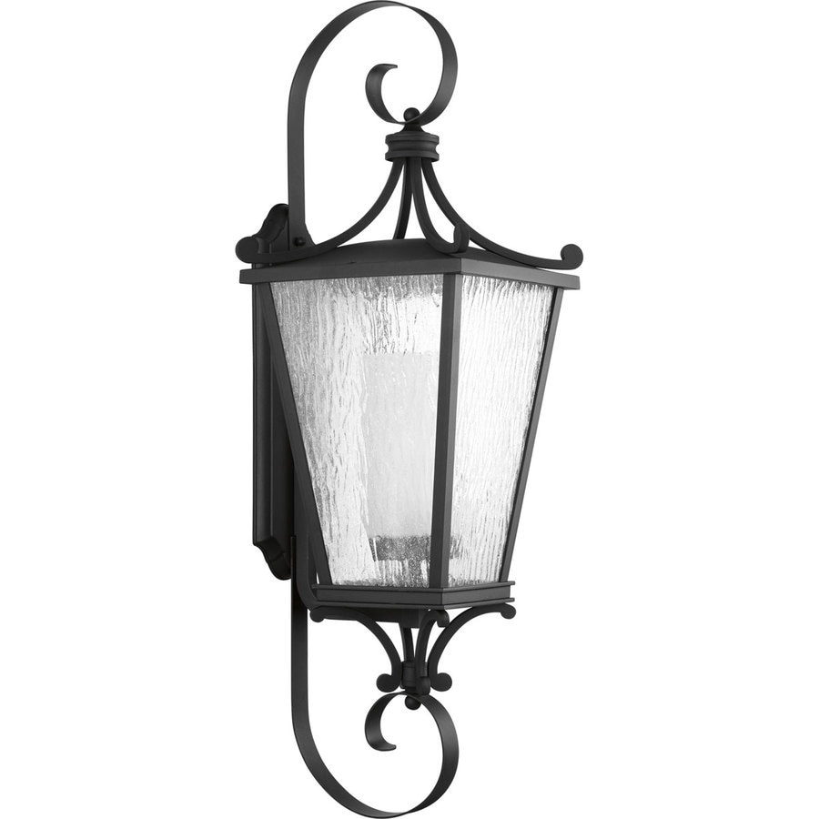 Progress Lighting Cadence CFL 38-in H Black Outdoor Wall Light