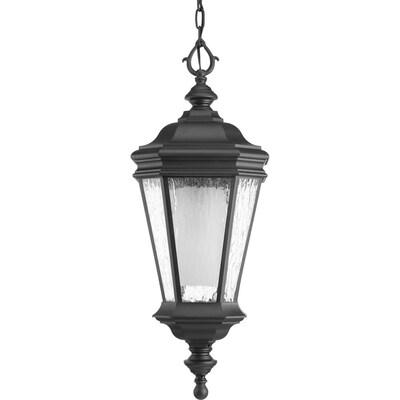 Progress Lighting Crawford Cfl Black Seeded Gl Lantern