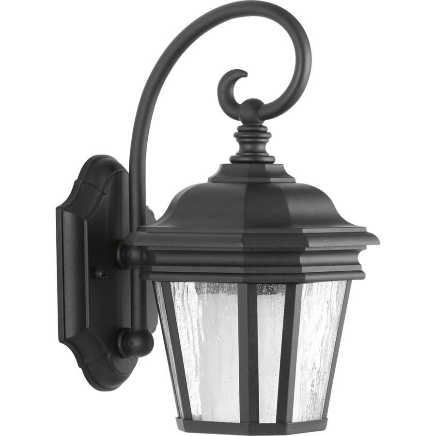 Progress Lighting Crawford CFL 12.5-in H Black Outdoor Wall Light
