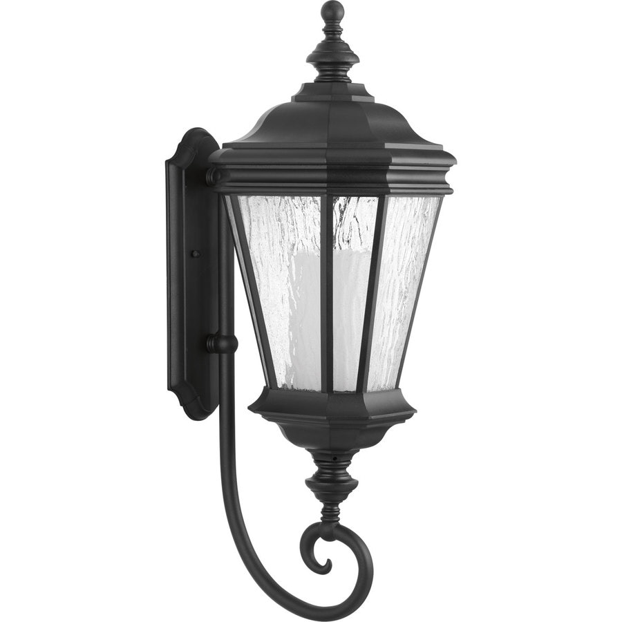 Progress Lighting Crawford CFL 28.875-in H Black Outdoor Wall Light