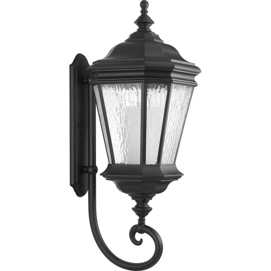 Progress Lighting Crawford CFL 32.875-in H Black Outdoor Wall Light