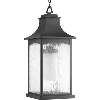 Progress Lighting Maison Cfl Black Seeded Gl Lantern