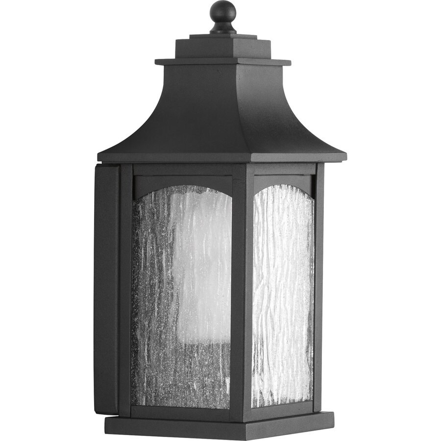 Progress Lighting Maison CFL 13.625-in H Black Outdoor Wall Light