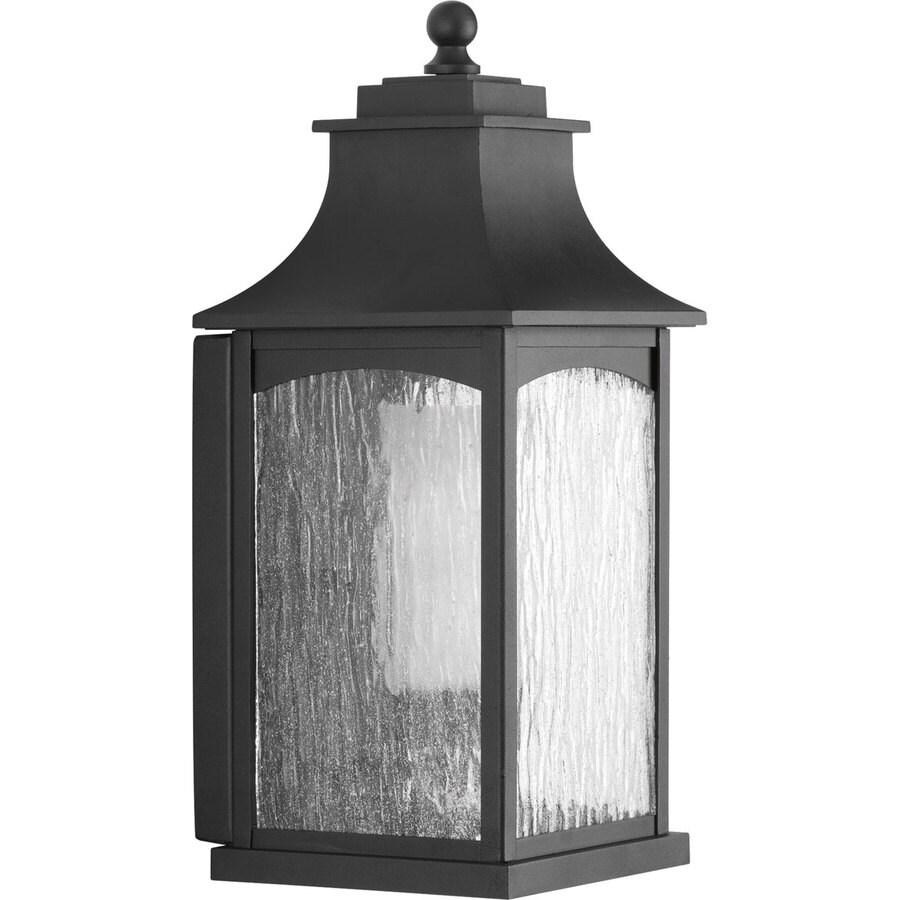 Progress Lighting Maison CFL 16.875-in H Black Outdoor Wall Light