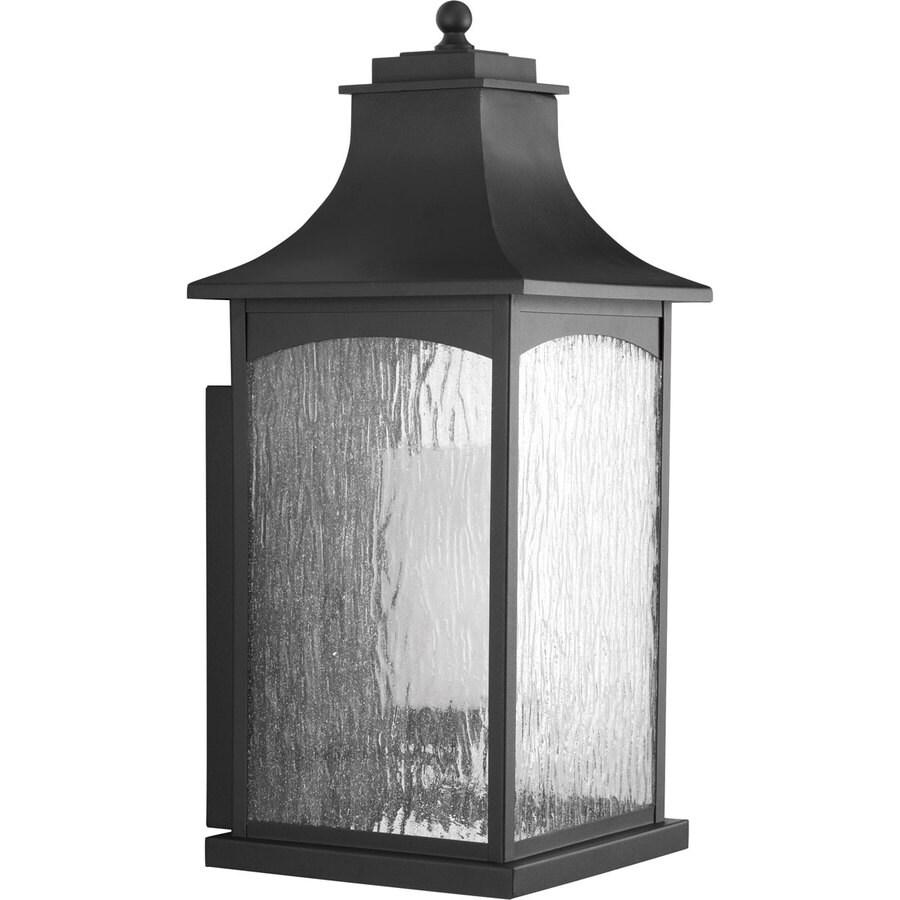 Progress Lighting Maison CFL 23.75-in H Black Outdoor Wall Light
